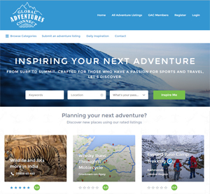 Global Adventures Connect Home Page